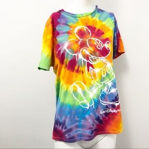 Walt Disney World Tie Dye T-Shirt - Size Medium